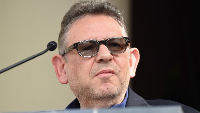 Lucian Grainge, chairman and chief executive of Universal Music Group, is honored by the Hollywood Chamber of Commerce at the Capitol Records building on Nov. 15, 2016.