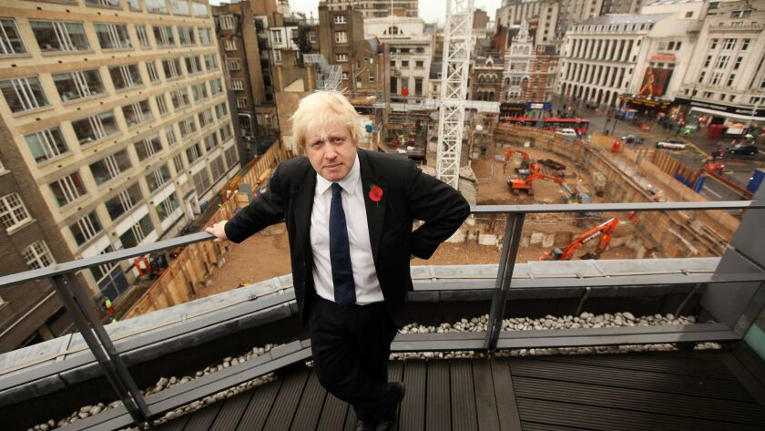Boris Johnson Invites The Press To View The Crossrail And Tube Construction