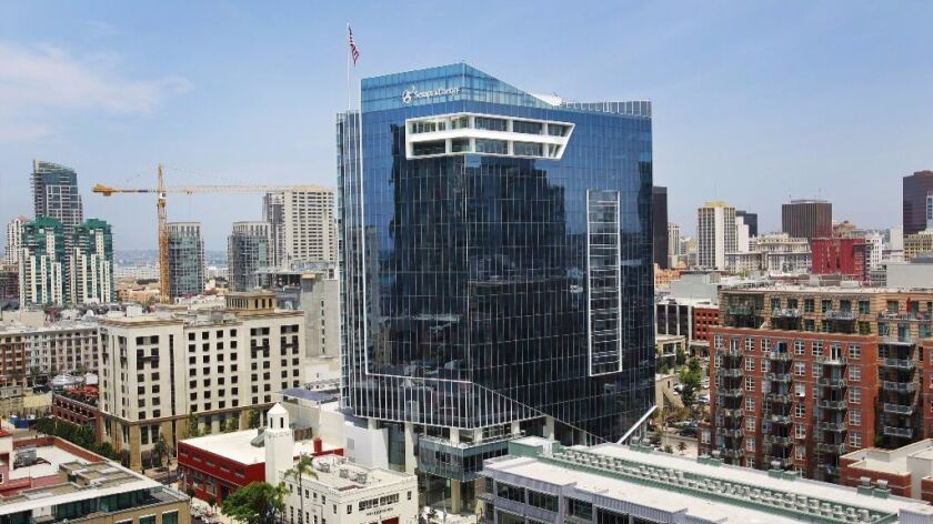 Sempra Energy's headquarters at 8th Ave. and Island Ave. in downtown San Diego.