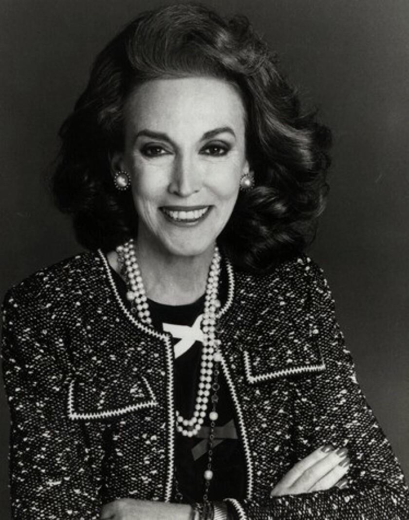 Longtime Cosmopolitan magazine editor Helen Gurley Brown, seen in this undated photo provided by Hearst Magazines, died Monday at the age of 90.