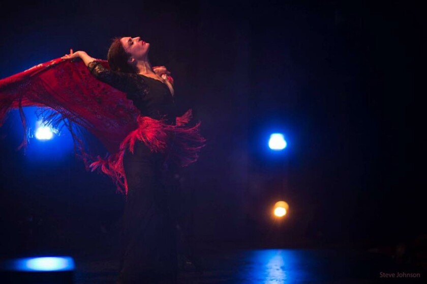 """Fanny Ara is the featured dancer in Forever Flamenco's """"Family Gypsy Song"""" at the Fountain Theatre."""