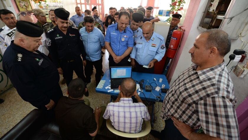 Special voting day for the Iraqi legislative election, Baghdad, Iraq - 10 May 2018