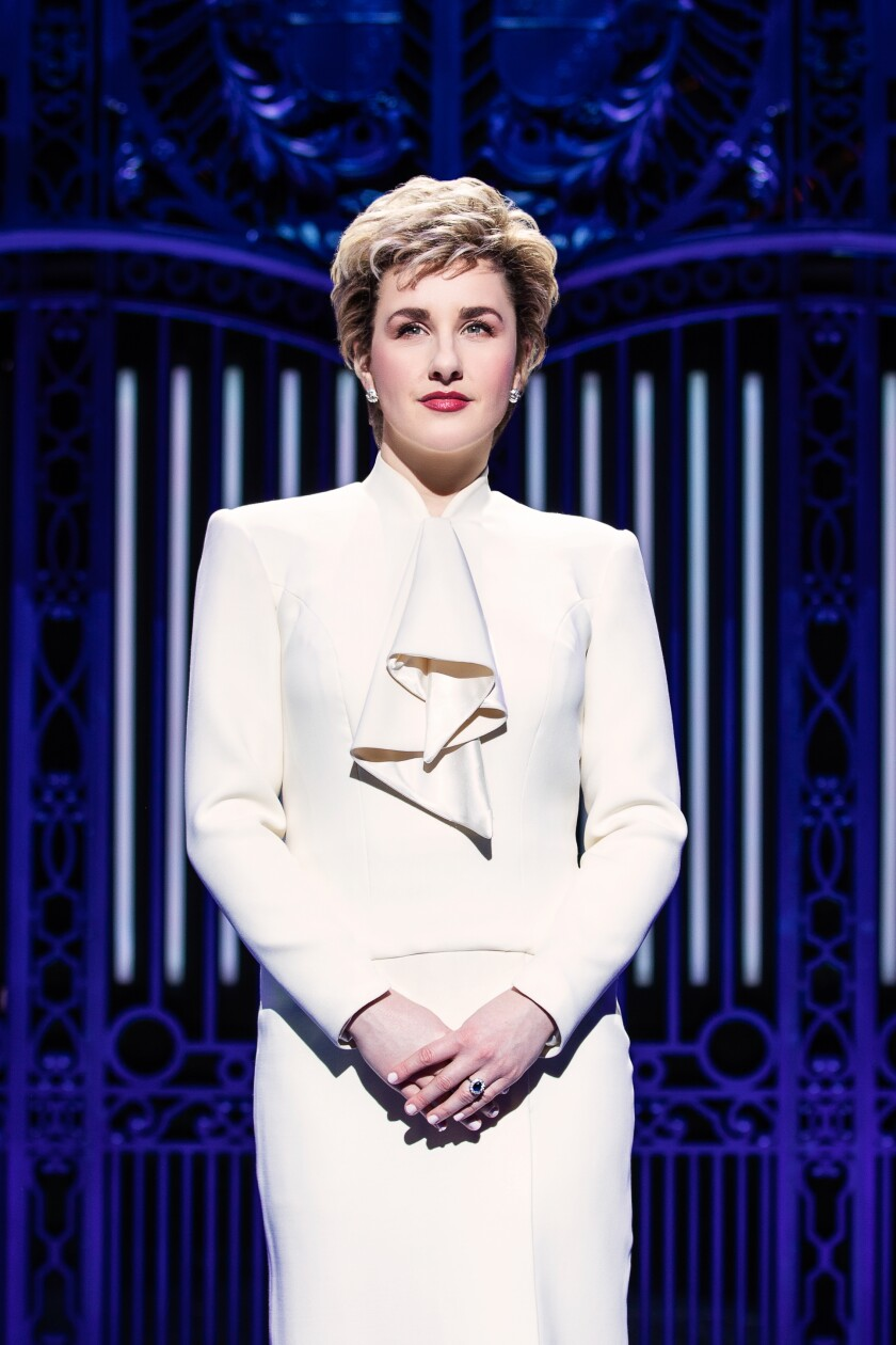 "Jeanna de Waal plays Princess Diana in ""Diana"" the musical."