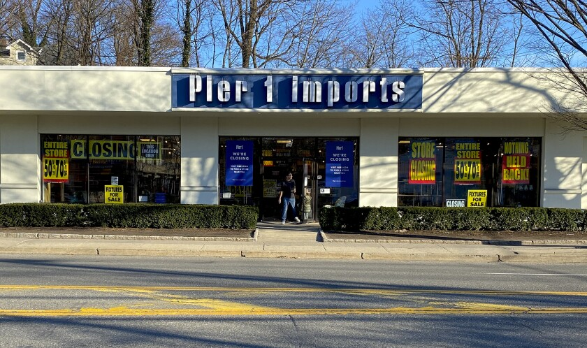 Pier 1 announced the shutdown of about half of its stores this winter and now plans to liquidate the rest. Above, a closeout sale in February at a store in Larchmont, N.Y.