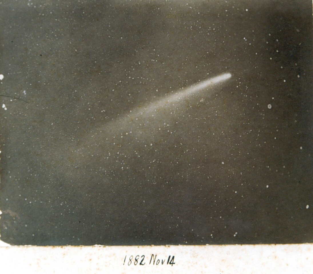 Photograph of Great Comet of 1882, Nov. 14, 1882 (Royal Observatory, Cape of Good Hope, South Africa).