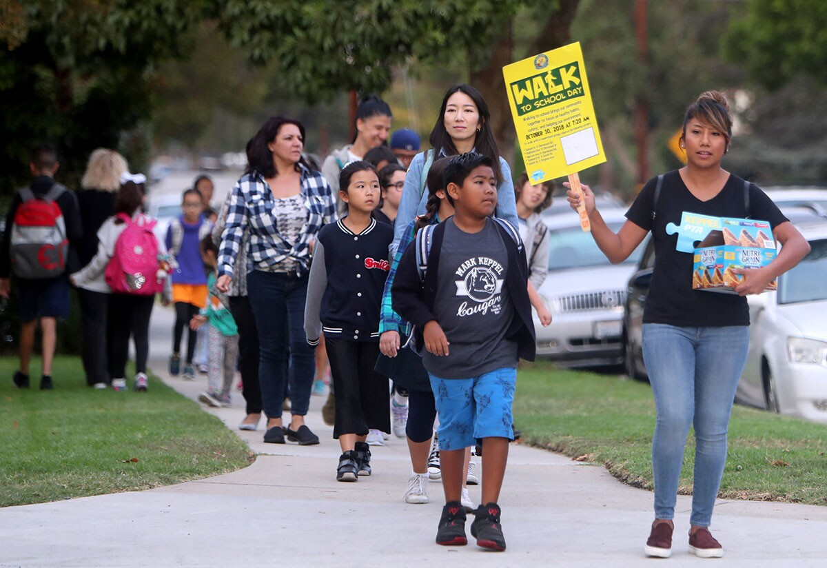 Photo Gallery: Walk School Day at Keppel Visual and Performing Arts Magnet
