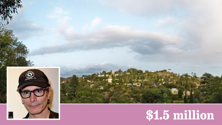 Grammy-winning rock guitarist Steve Vai has sold his home and recording studio in Hollywood Hills.