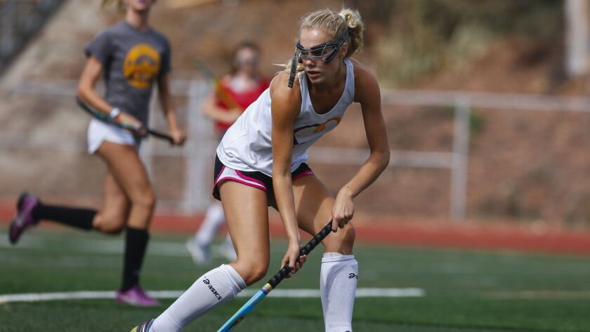 As senior Tyler Samuelson enters her fourth year in the Serra field hockey program, the 5-foot-8 midfielder has never experienced a defeat while playing for the Q's.