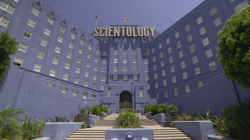 """The Scientology building from the documentary movie """"Going Clear: Scientology and the Prison of Belief"""" directed by Alex Gibney."""
