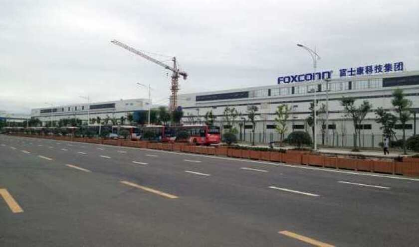 A Foxconn factory in Chengdu, China in June.