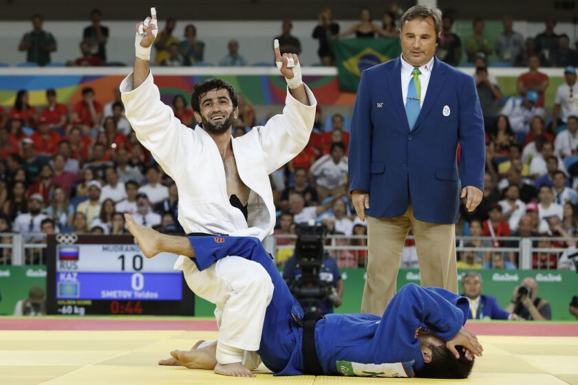 Russia's first gold medal in Rio de Janeiro