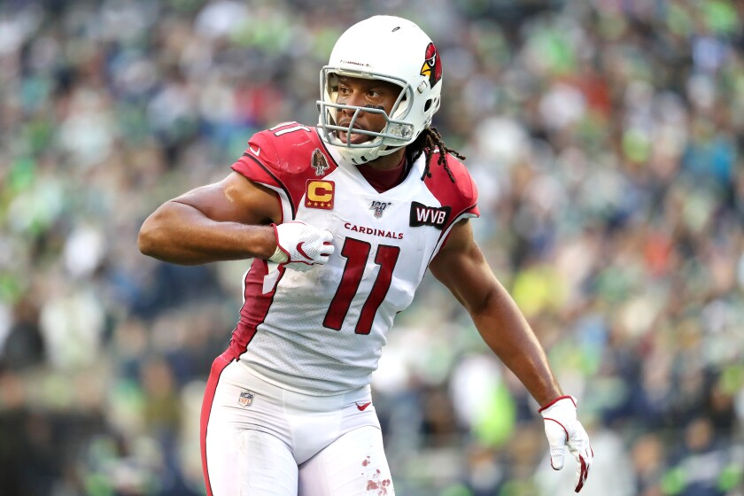 Larry Fitzgerald is the Arizona Cardinals' franchise leader in games played, receptions, receiving yards, receiving touchdowns, total touchdowns and 100-yard games.