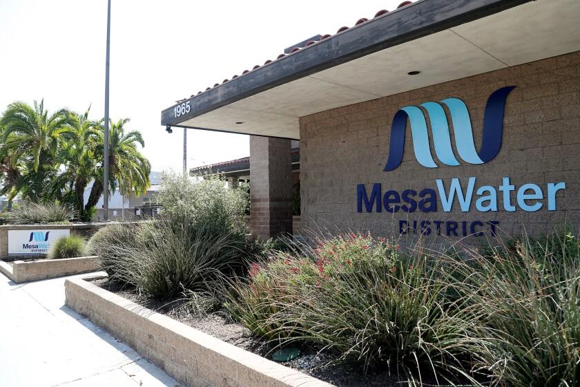 Mesa Water District in Costa Mesa.