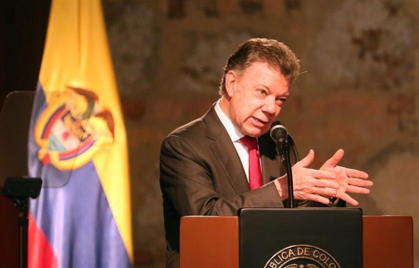 Juan Manuel Santos, presidente de Colombia. EFE/Archivo