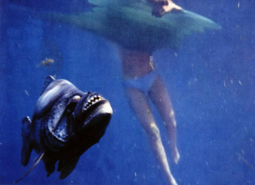 """""""Piranha"""" swam into theaters in summer 1978, directed by Joe Dante."""