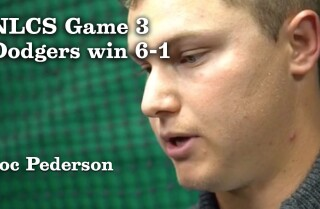 Joc Pederson on winning and trying to close out the NLCS.