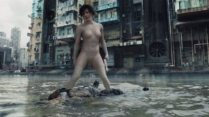 "Scarlett Johansson as The Major in the film ""Ghost in the Shell."" Credit: Paramount Pictures / Dream"