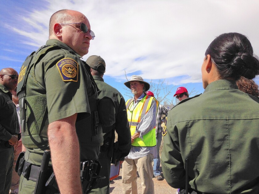 A group of southern Arizona residents says the Border Patrol's immigration checkpoint 25 miles from the U.S.-Mexico border has increasingly militarized their community.