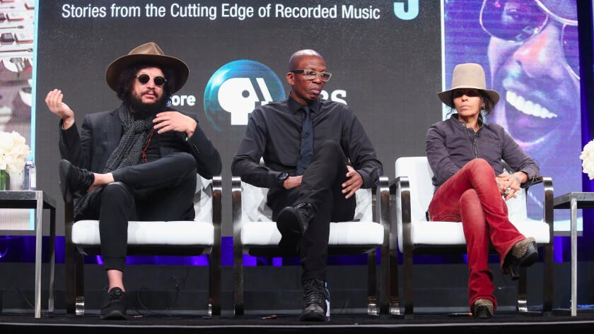 Producer and songwriter Don Was, left, producer Hank Shocklee and producer and songwriter Linda Perry at a July event in Beverly Hills. A new Justice Department decision poses particular challenges to the sort of collaborative songwriting they practice.