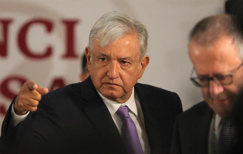 El presidente de México, Andrés Manuel López Obrador, durante su rueda de prensa matutina en Palacio Nacional, en Ciudad de México(México). EFE/Archivo