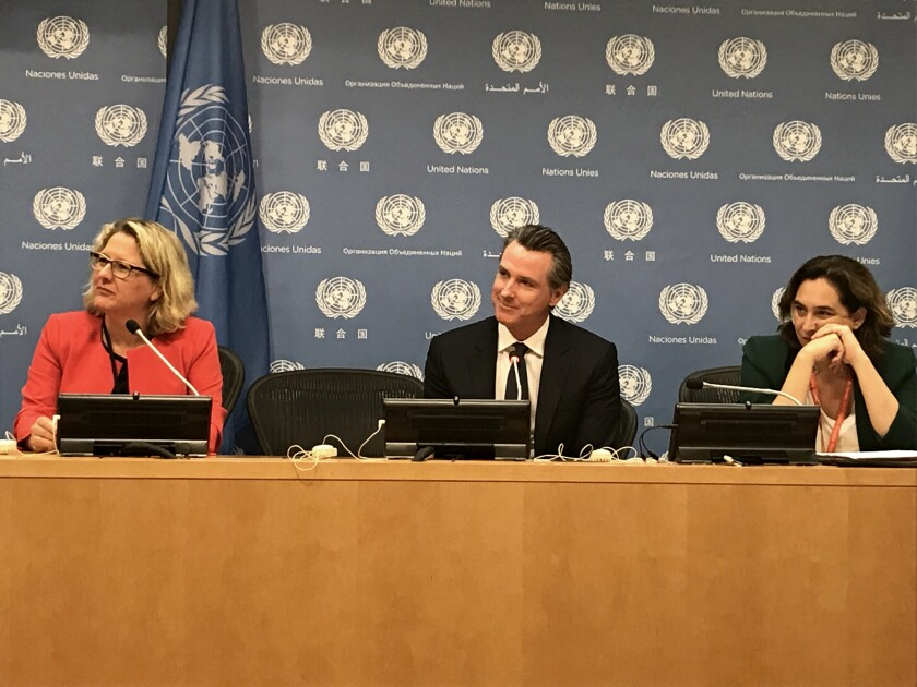 Gov. Gavin Newsom at the United Nations