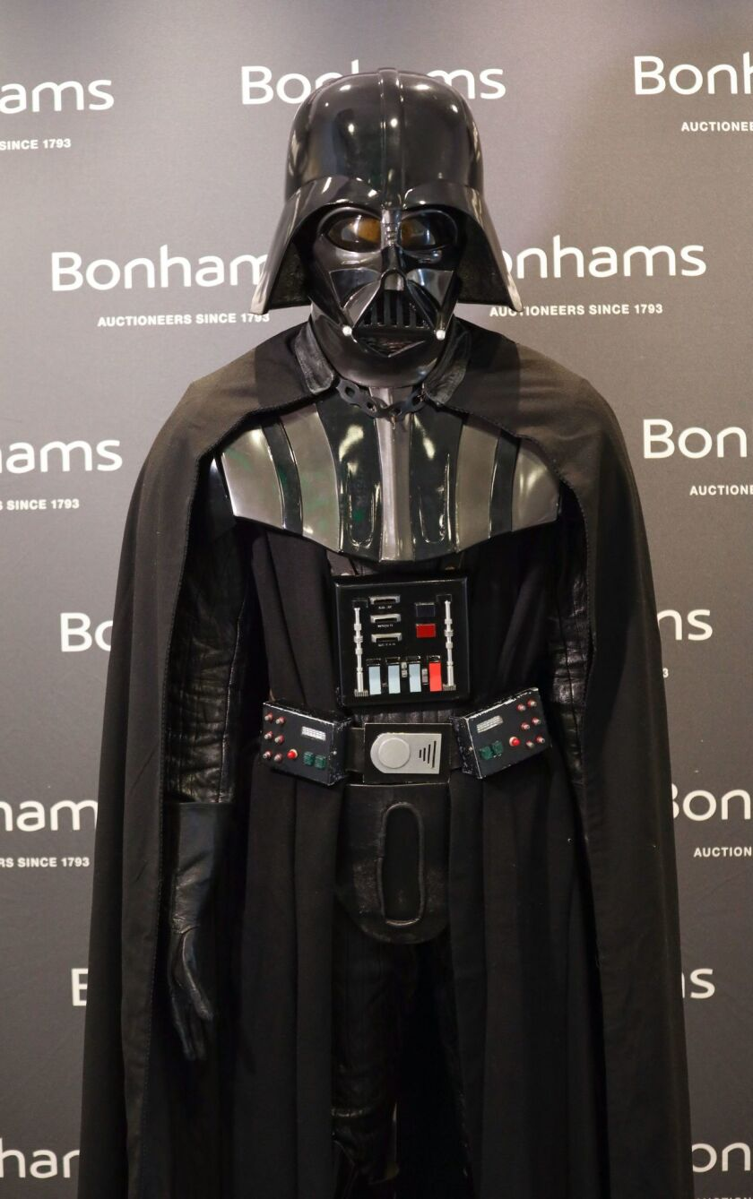 Darth Vader costume up for auction, Los Angeles, USA - 03 May 2019