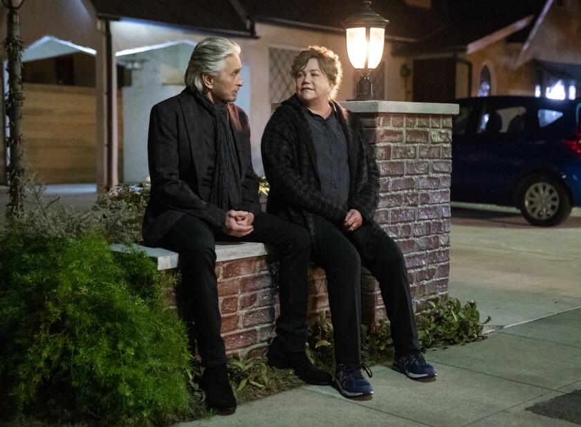 Michael Douglas, left, and Kathleen Turner