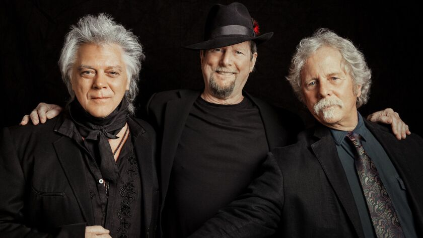 (L-R) Marty Stuart, Roger McGuinn, Chriss Hillman. On the 50th anniversary of their groundbreaking a
