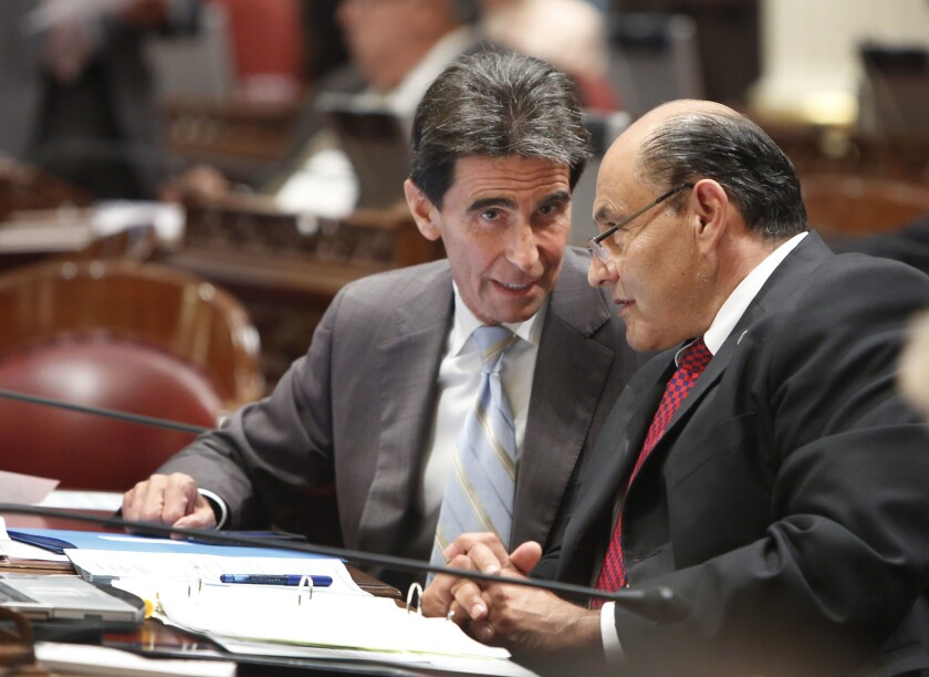 Mark Leno, Lou Correa