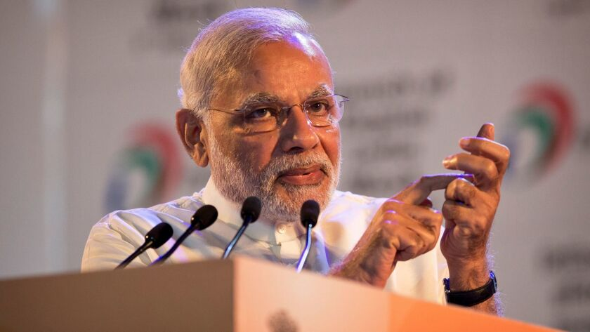 Indian Prime Minister Narendra Modi is an avid social media user, but his official Twitter account follows some users who are blamed for spreading fake news.
