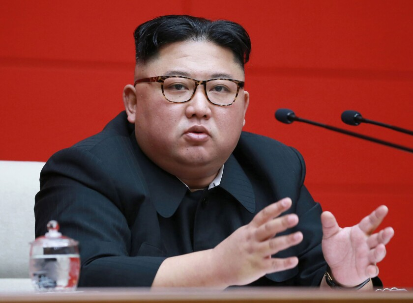 FILE - In this April 10, 2019, file photo provided by the North Korean government, North Korean lead