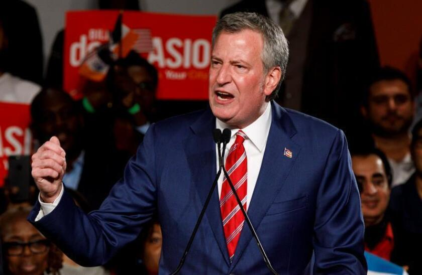 El alcalde de la ciudad de Nueva York, Bill de Blasio. EFE/Archivo