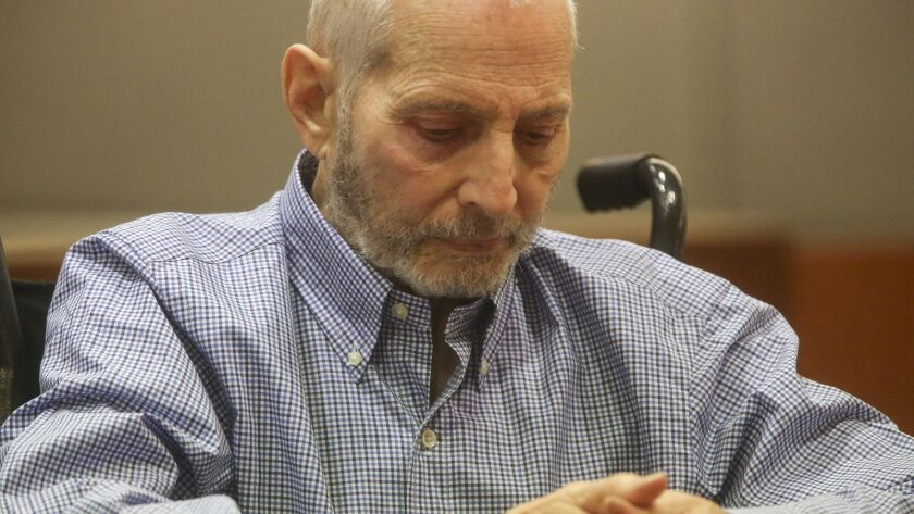 New York real estate scion Robert Durst appears in Los Angeles Superior Court in 2017.