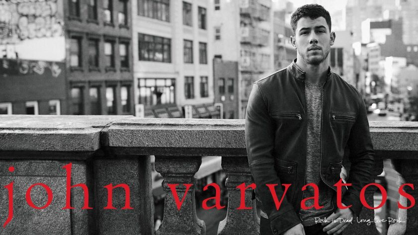 Nick Jonas is the latest face of the John Varvatos campaign.