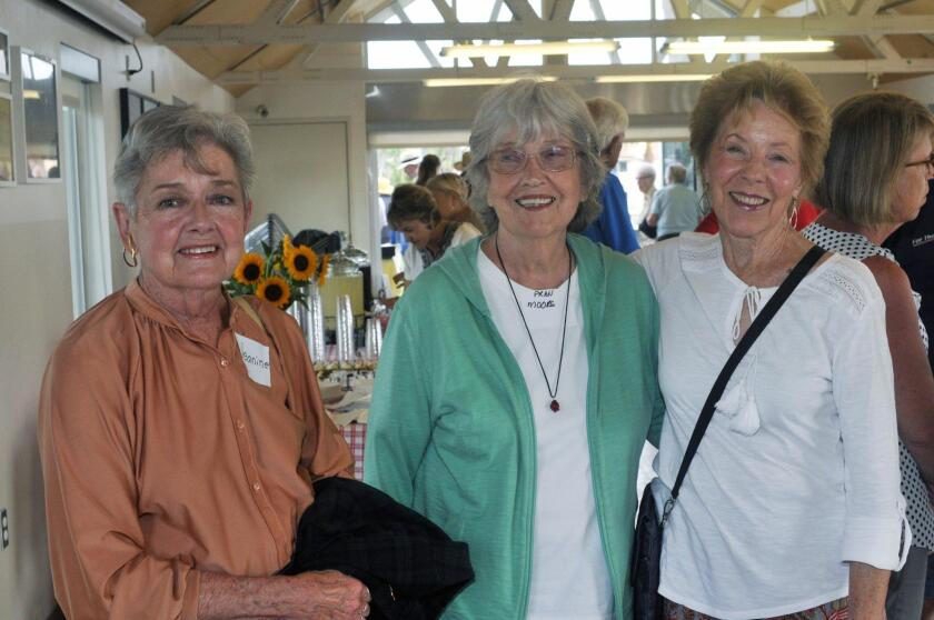 Jeanine Dreifuss, Fran Moore, Solana Beach city council member Judy Hegenauer