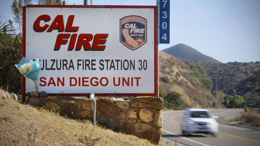 Cal Fire Station 30 in Dulzura.