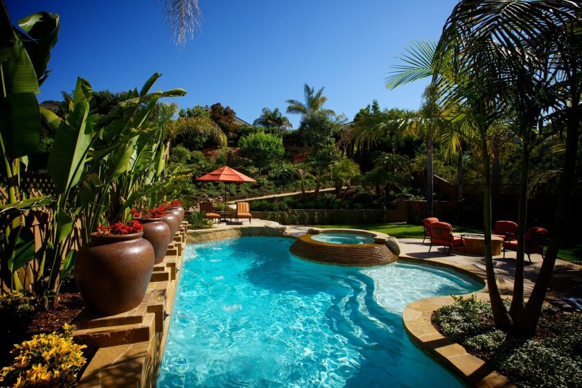 Ciro's Landscaping won the Sweepstakes Award for a tropical and Mediterranean backyard in Del Mar.