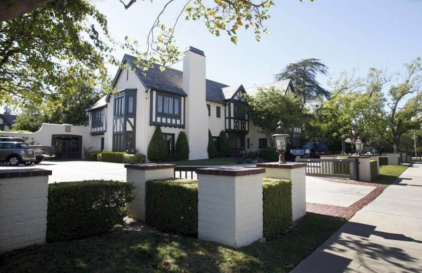 The Windsor Square home of Mayor Eric Garcetti was the scene Sunday of protests.