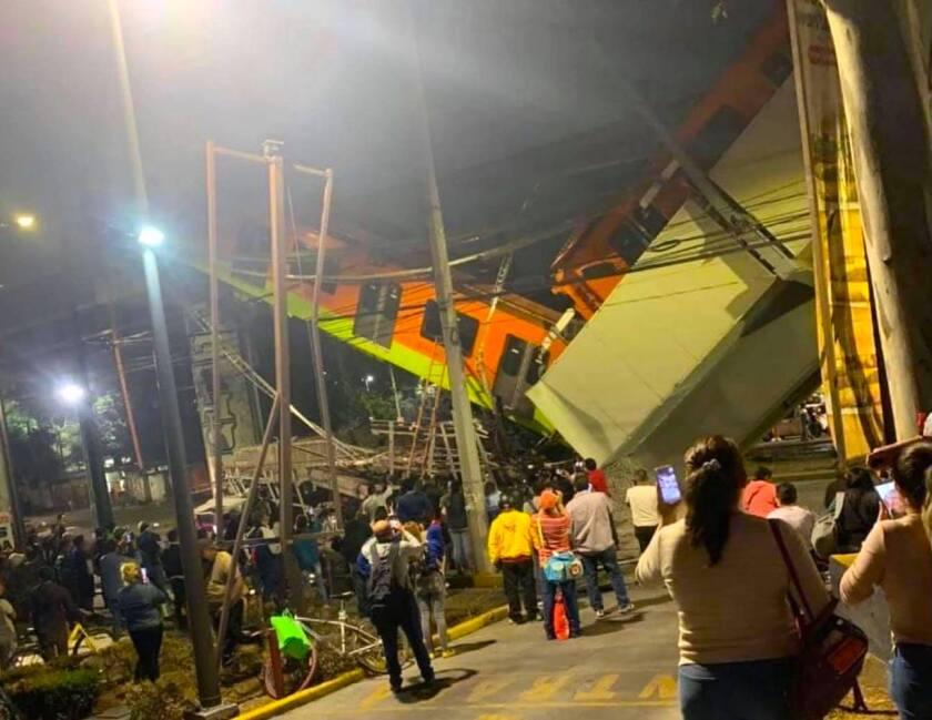 Colapsa estructura del Metro de Ciudad de México