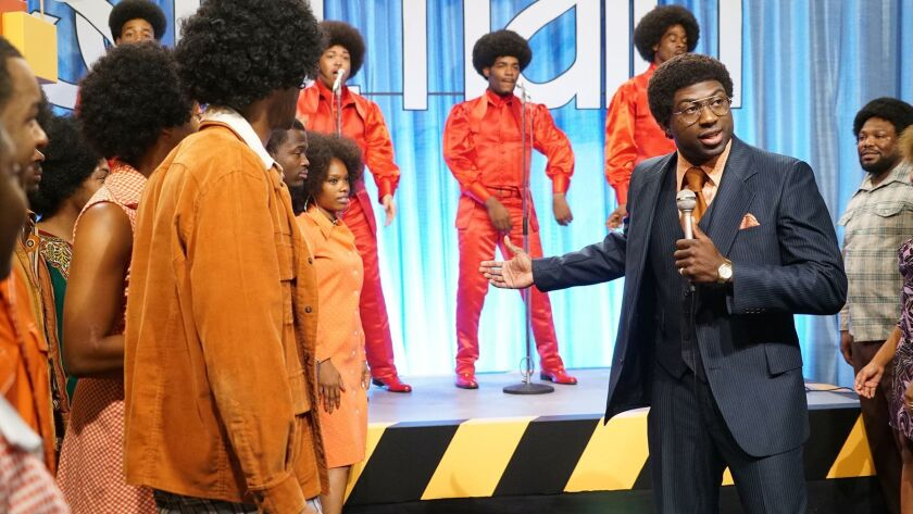 """Still of Sinqua Walls as Don Cornelius from BET's """"American Soul"""" episode 101. ** OUTS - ELSENT, FPG"""