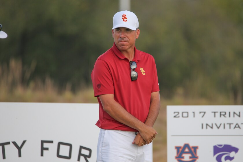 Former USC men's golf coach Chris Zambri.