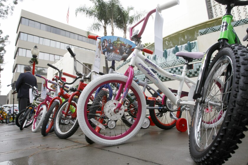 The Burbank Salvation Army will donate round 200 refurbished and new bicycles to children in the community.