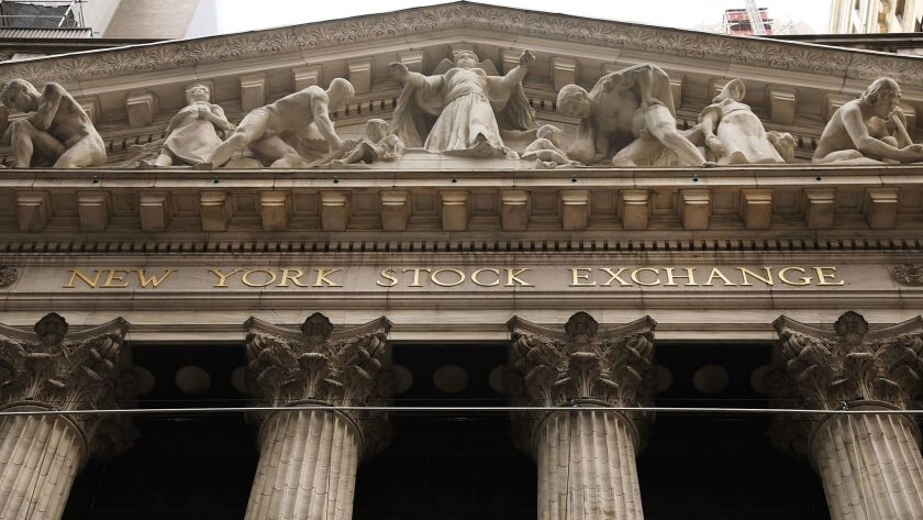 The facade of the New York Stock Exchange.