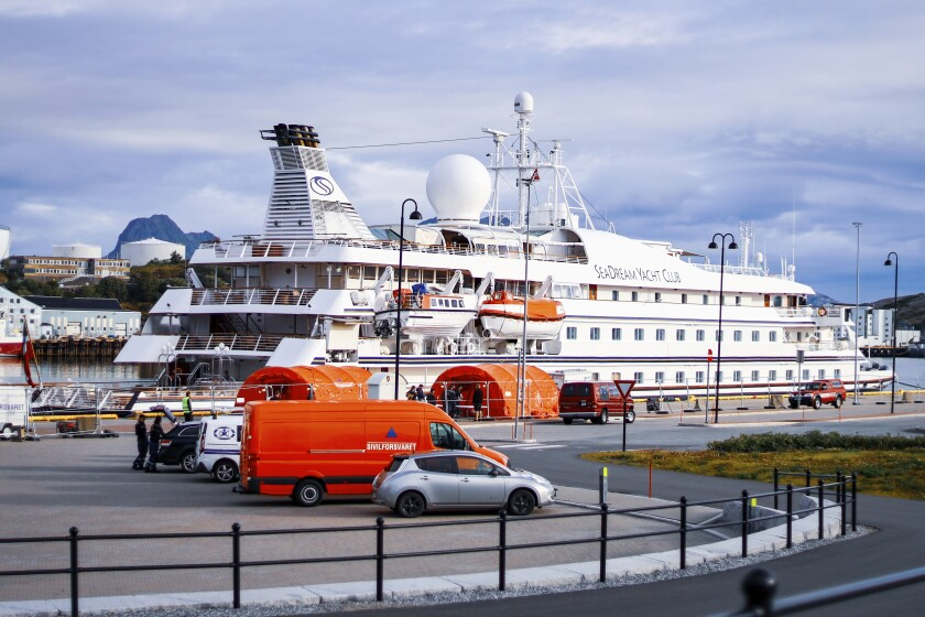 The passengers and crew can't disembark from SeaDream 1 in Norway after a passenger got COVID-19