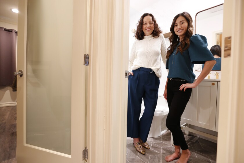 SANTA MONICA, CA - DECEMBER 10, 2018 Designer Amalia Gal, left, created a very inspiring design in