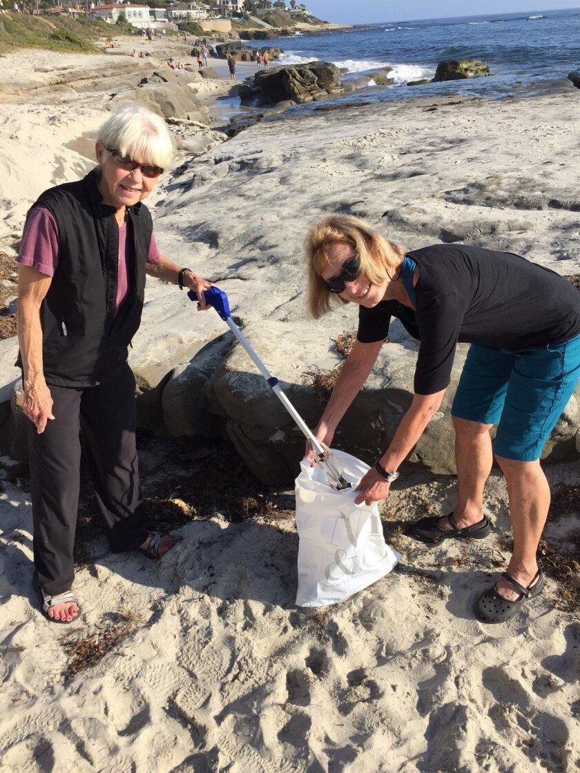 Clean-up organizers Nancy Linck and Susan Wilson