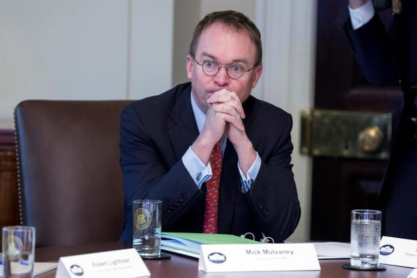 Acting White House Chief of Staff Mick Mulvaney attends a meeting of US President Donald J. Trump's Cabinet in the Cabinet Room of the White House in Washington, DC, USA. EFE/EPA/File