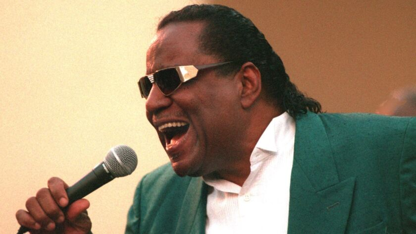 Clarence Fountain, lead singer of the Blind Boys of Alabama gospel group, shown performing in 1996 in San Juan Capistrano, died June 3 at age 88.