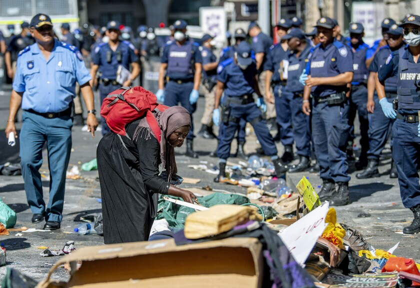 South Africa Migrants Removed
