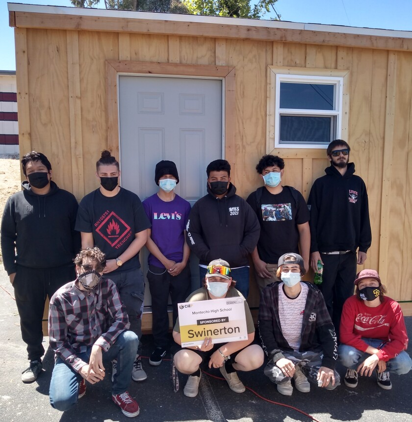 Montecito High students built this multipurpose shed and will enter it in a raffle benefiting the fireworks show.